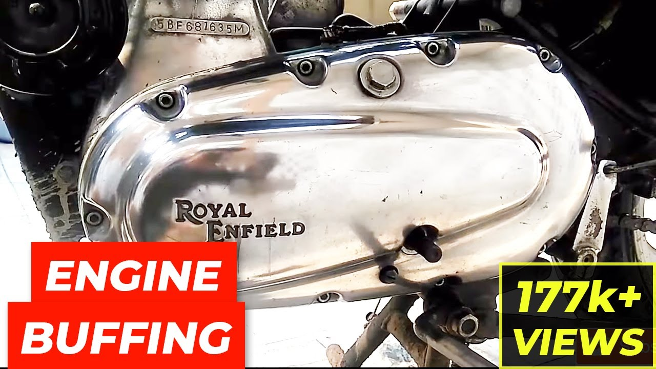 How To Polish Royal Enfield Bullet S Nickle Chrome Engine