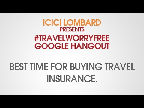 Best time for buying travel insurance