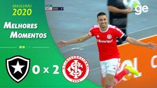 BOTAFOGO 0 X 2 INTERNACIONAL | MELHORES MOMENTOS | 6ª RODADA BRASILEIRÃO | ge.globo