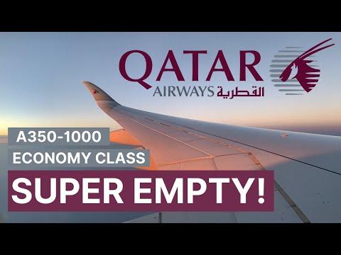 SUPER EMPTY Qatar Airways A350-1000 Economy Class | SIN-DOH