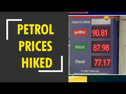 Petrol, diesel prices hiked once again today