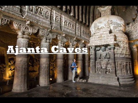 Ajanta Caves - Rock Cut Buddhist Temples - Maharashtra India 2016