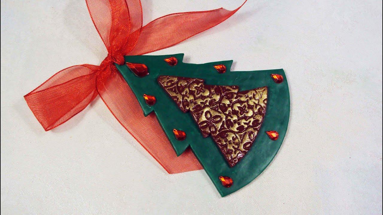 Alberelli di natale decorazioni natalizie in fimo for Alberelli di natale