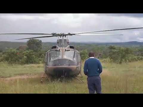 Helicopter Arrival of Oppah Muchinguri & Monica Mutsvangwa to Tsvangirai Burial