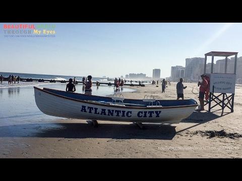 Atlantic City - New Jersey USA ( Beach And Board Walk ) Tour
