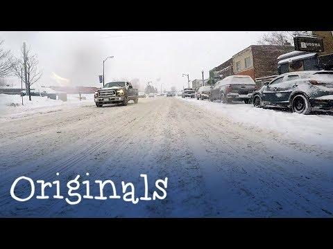 Car's Eye View Of Sudbury's Record Breaking Snowfall Jan. 23 2019
