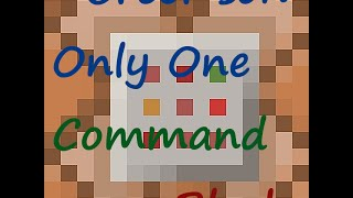 [Minecraft] Comment créer son Only One Command Block!