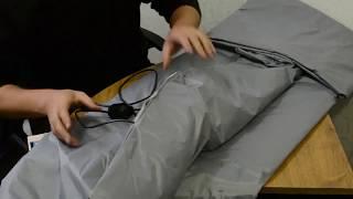 Термоодеяло для обертывания (одеяло с подогревом для массажа)