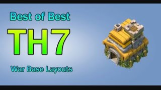 Clash Of Clans Town Hall 7 Defence (CoC TH 7) BEST Trophy Base Layout Defense Strategy//