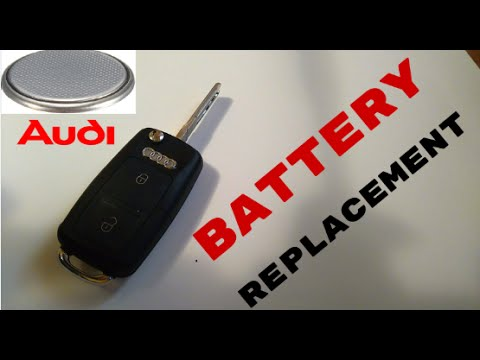 how to replace audi a4 key fob battery youtube. Black Bedroom Furniture Sets. Home Design Ideas