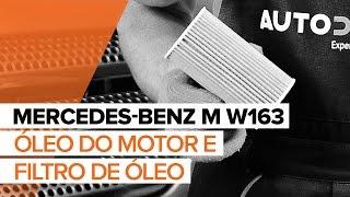 Como substituir óleo do motor e filtro de óleo no MERCEDES-BENZ M W163 [TUTORIAL]