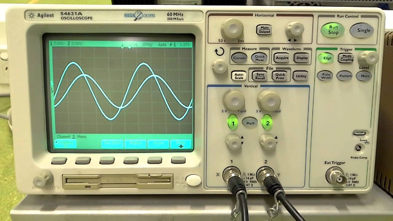 Damped Oscillations In A Resonant Lcr Circuit On An Oscilloscope