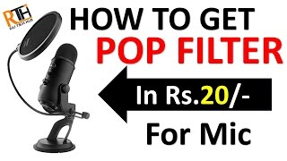 How to Make POP Filter at Home in RS.20