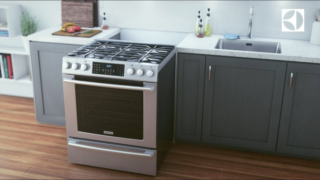 Electrolux Front Control Freestanding Range With Built In