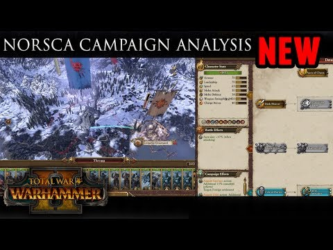 Total War: Warhammer - Norsca Campaign Gameplay Analysis (New Monster Hunt / Chaos God Mechanics)
