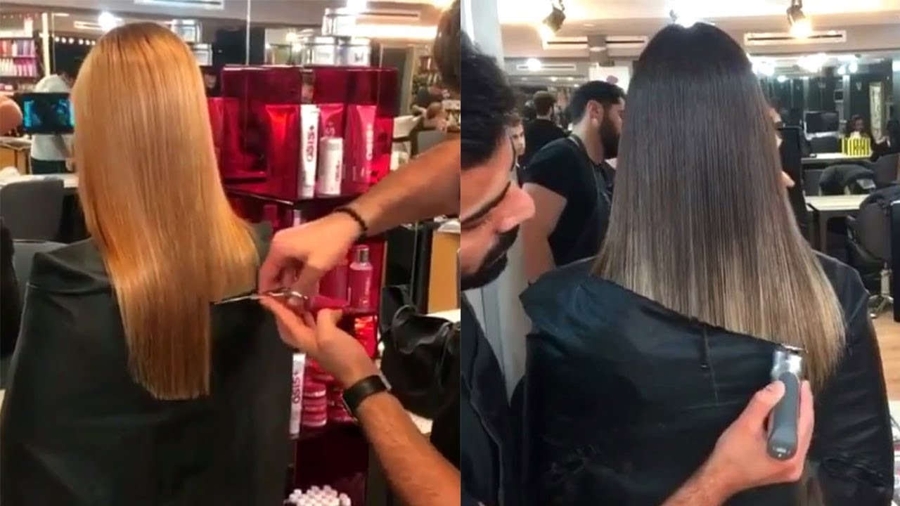 Hair Cut and Color Transformation by @emreayaksiz Professional Hairstyles Compilation