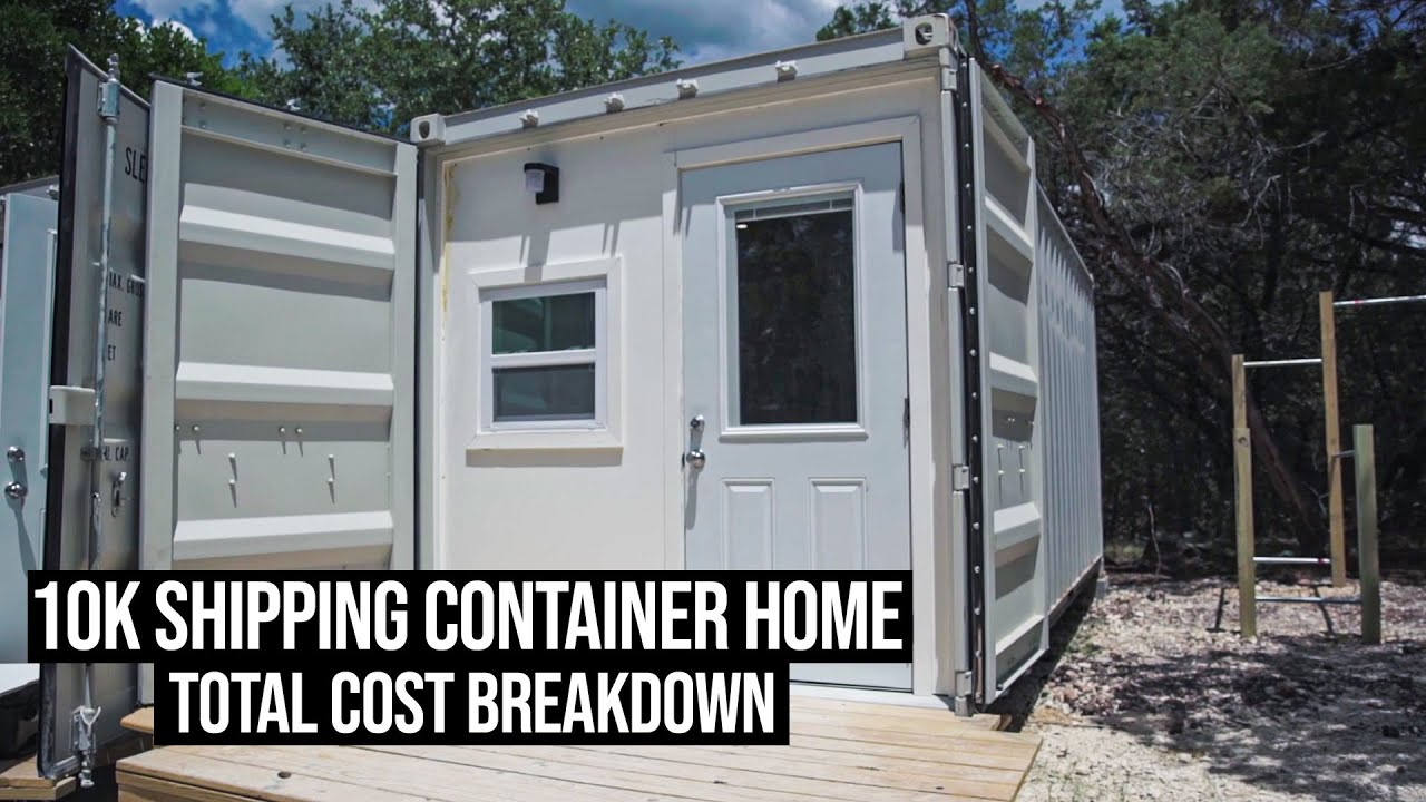 Build a SHIPPING CONTAINER HOME for 10K? | Total Cost Breakdown
