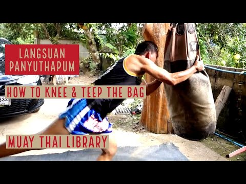 Langsuan Teaching How to Knee & Teep the Bag | #Langsuan1000