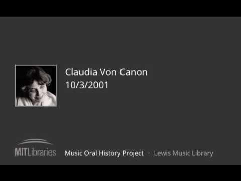 Claudia Von Canon interview, 10/3/2001