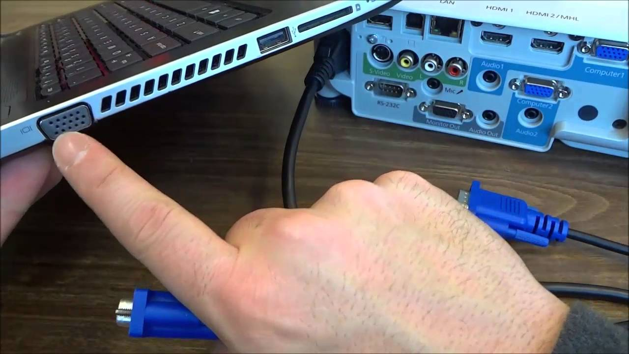 How To Connect A Projector Laptop With Vga Cable Youtube S Video Wiring