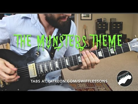 The Munsters Theme - Complete Guitar Lesson w/ Tabs
