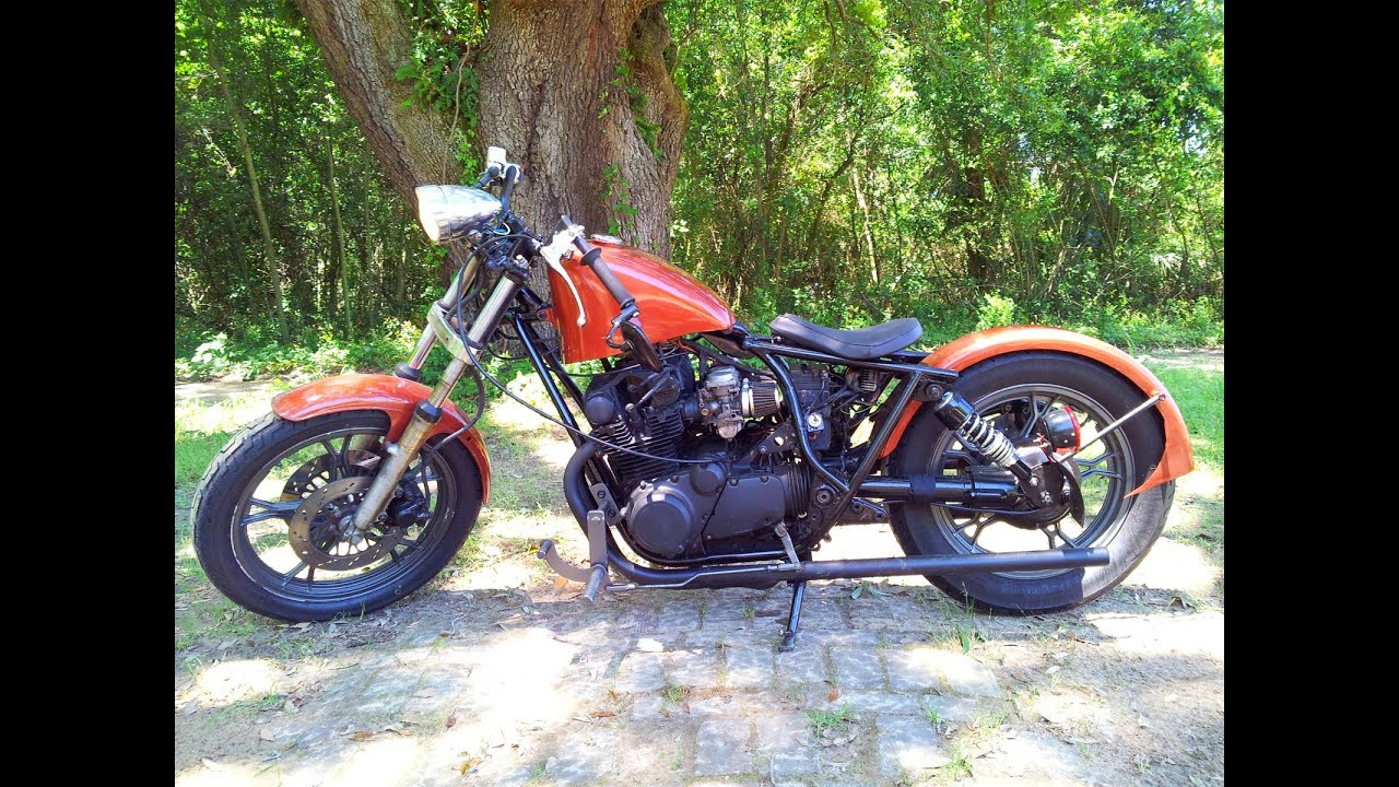1982 Suzuki GS650 Old Bobber Build - YouTube