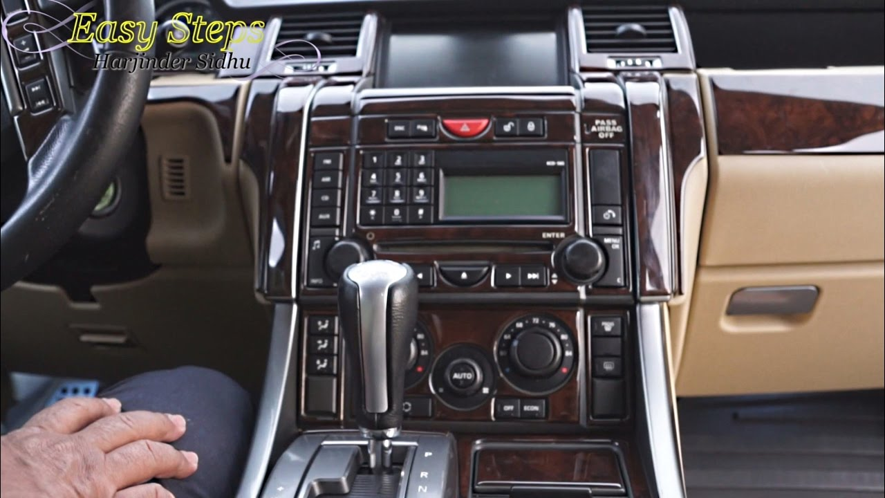 upgrade range rover sport interior standard to premium package install wood trim youtube
