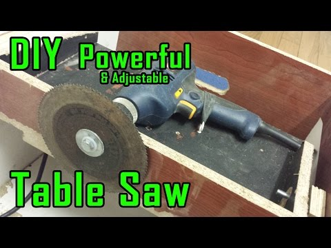 How To Make Drill Powered Table Saw | Adjustable & Portable | Drill Machine Powerful Saw