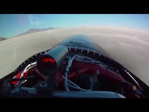 Разгон до 630 км/ч- мировой рекорд скорости на мотоцикле на соленом озере