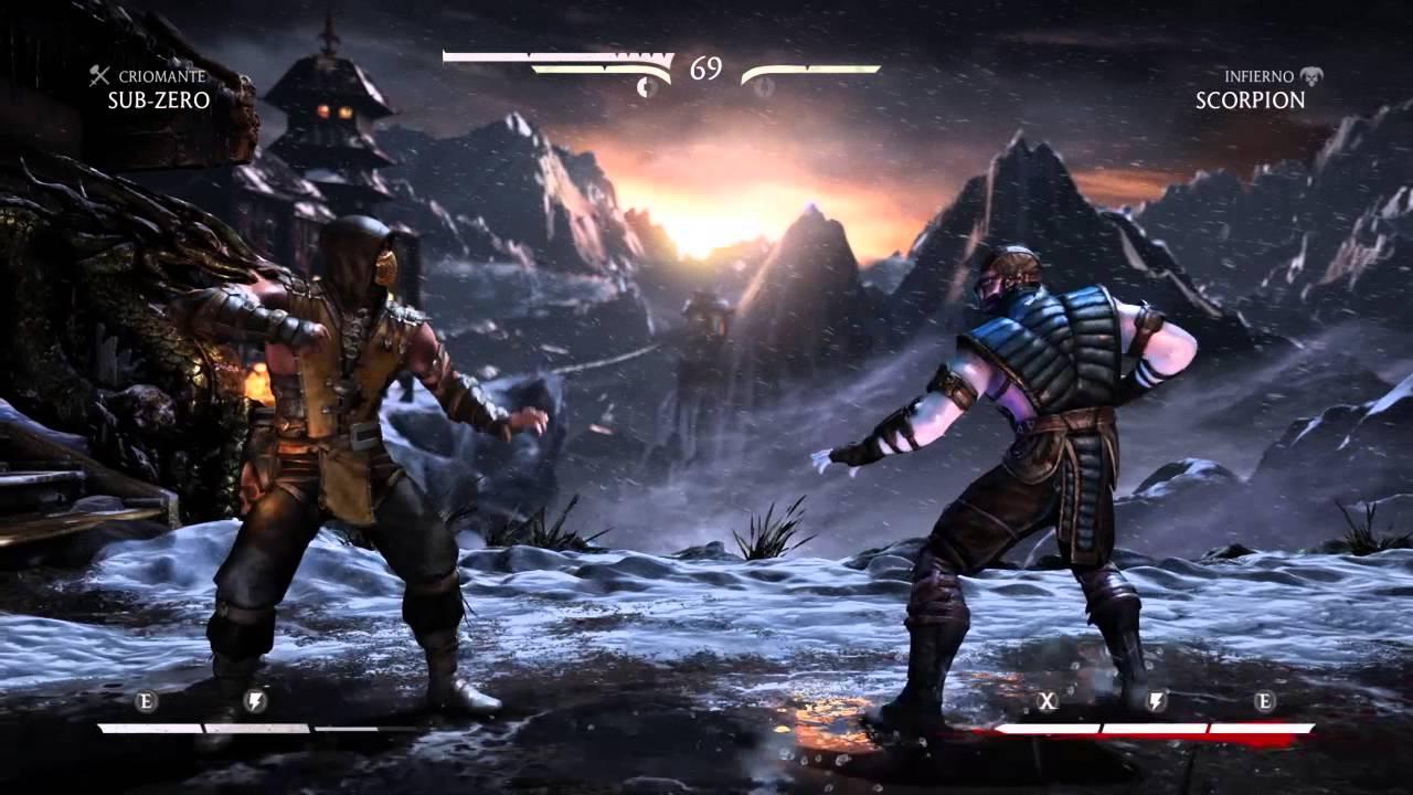 Playstation 4 Gameplay Mortal Kombat X Pelea Clasica Sub Zero Vs