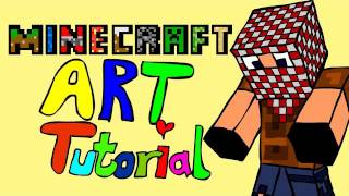 Minecraft: Cartoon Art Tutorial (Adobe Flash Character Drawing)