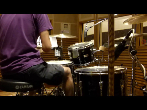 A Hundred Birds orchestra Drummer's eye view / Ten percent recording scenery