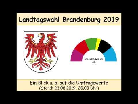 Landtagswahl Brandenburg 2019: u. a. Umfragewerte Stand 23.08.2019 20.00 Uhr (u. a. SPD, CDU, AfD)