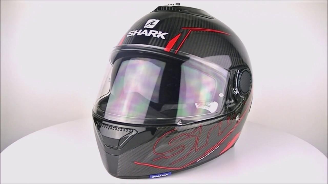 shark spartan carbon silicium red anthracite helmet youtube. Black Bedroom Furniture Sets. Home Design Ideas