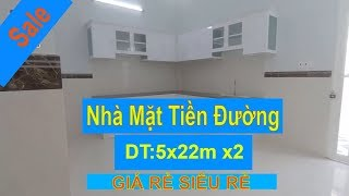 Bán Nhà Bình Chánh - Nhà Mới Mặt Tiền Đường DT:5x22m - Sổ Hồng Riêng