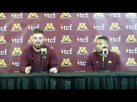 Press Conference: Antoine Winfield Jr. & Carter Coughlin on Gophers' Win vs. #5 Penn State