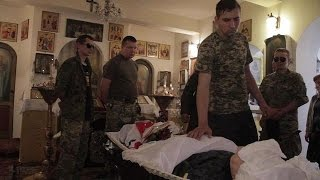 Funeral for a Ukrainian soldier killed in the east
