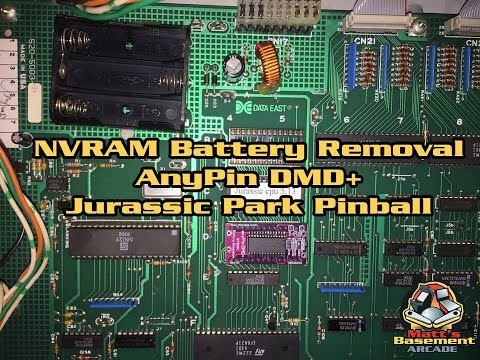 NVRAM Battery Removal [AnyPin] DMD+ - Jurassic Park Pinball (1993 Data East)