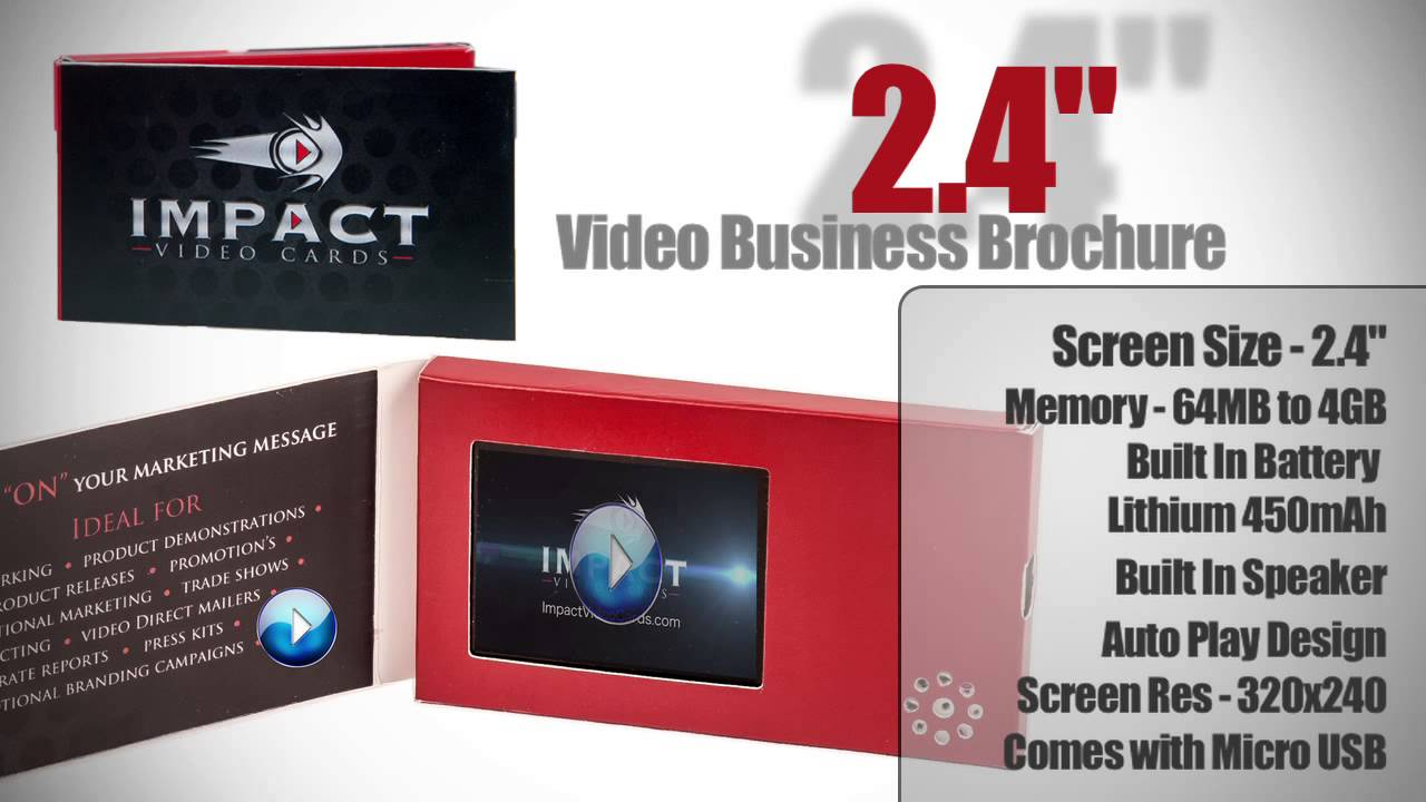 Video business card with built in 24 inch lcd screen youtube video business card with built in 24 inch lcd screen colourmoves