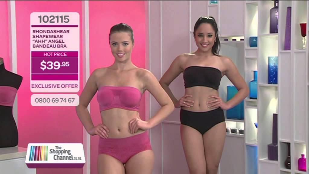 ac4ad8887fa Rhonda Shear Bandeau Bra on The Shopping Channel
