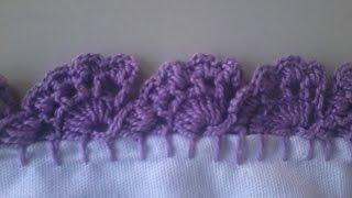 Como fazer bico de crochê – Carreira única
