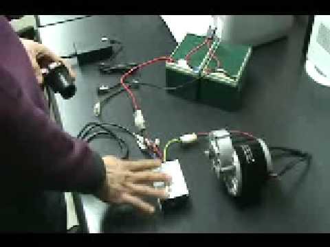 DC감속모터,콘트롤러.악셀레이터 활용 동영상 - YouTube