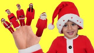 Finger Family Christmas +More Nursery Rhymes & Kids Songs - LETSGOMARTIN