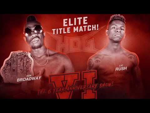[FREE TITLE FIGHT] Lio Rush vs Ken Broadway - House of Glory Wrestling