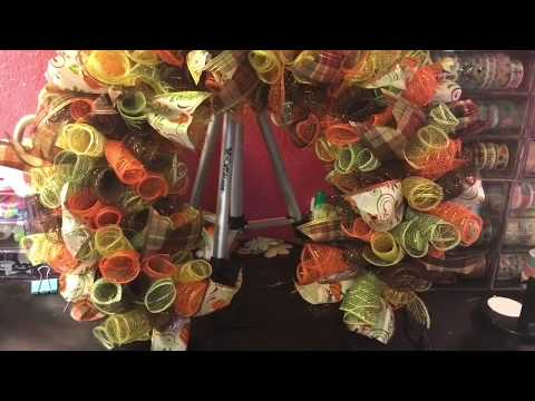 Dollar Tree Fall Deco Mesh Wreath (Wreath 1 in the Series) September 5, 2017