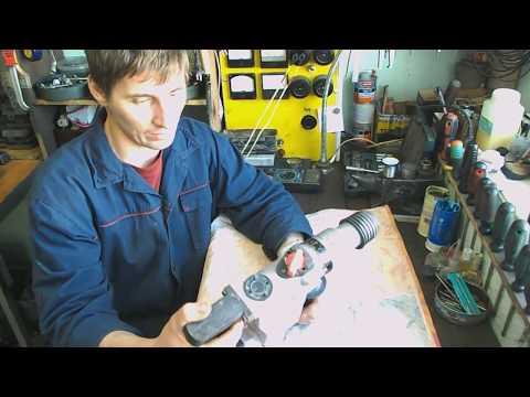 Ремонт перфоратора с вертикальным двигателем.
