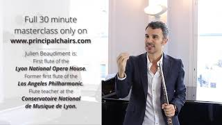 Видео урок Джулиана Бодимонда, первого флейтиста оркестра оперного театра Лиона, Франция