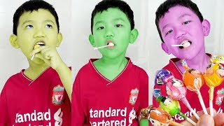 Finger Family Colors Song | Learn Colors with Lollipop and Surprise