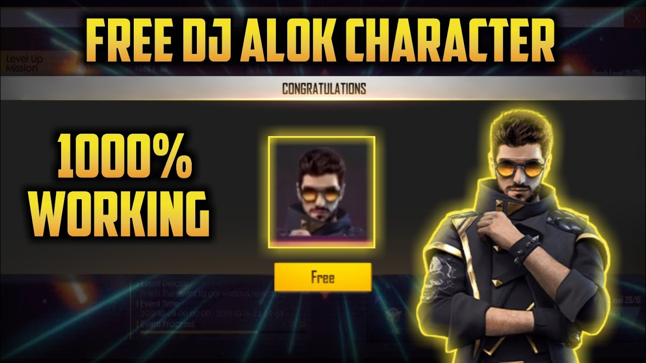 how to get free dj alok character in free fire ll free me dj alok kaise khole ll free me dj alok