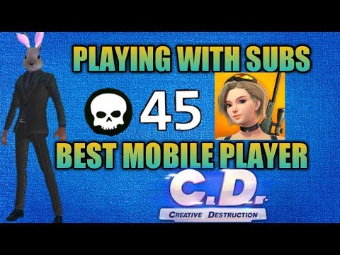🔴[LIVE]🔴PRO Creative Destruction Mobile Player Playing With Subscribers